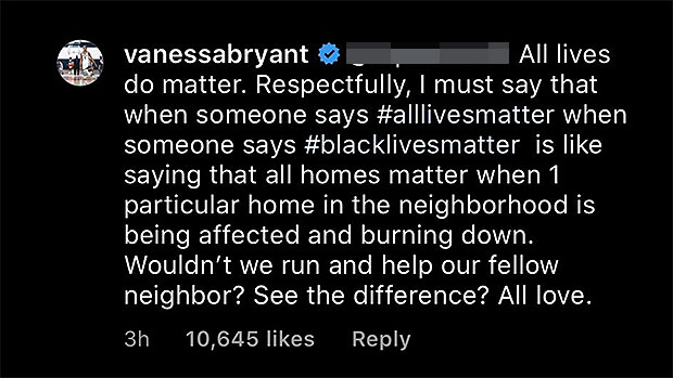 Vanessa Bryant Responds