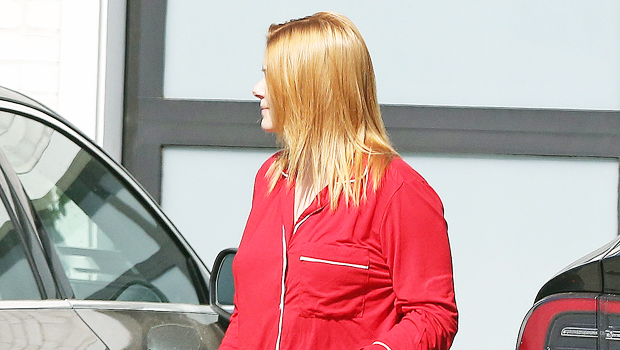 Ariel Winter in red pajamas