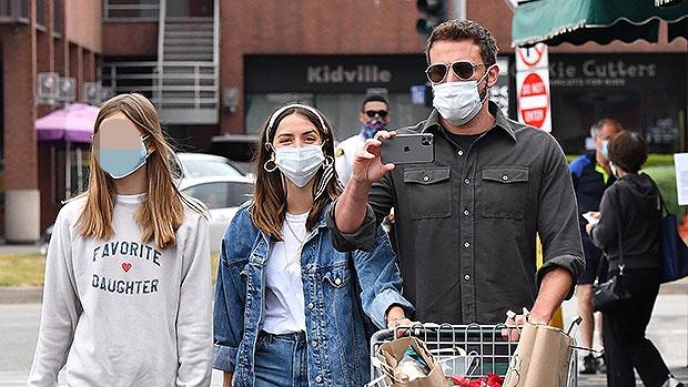 Ben Affleck & Ana De Armas with his daughter Violet