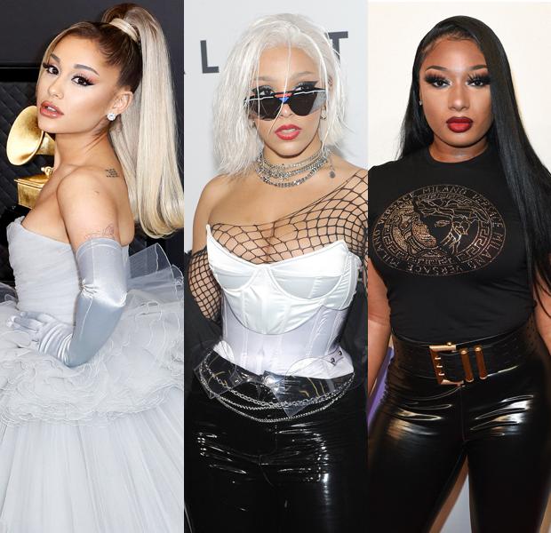 Ariana Grande, Doja Cat & Meg Thee Stallion