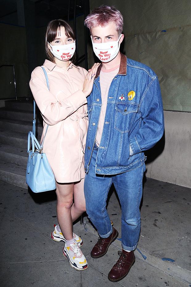 Dylan Minnette & GF Lydia Night