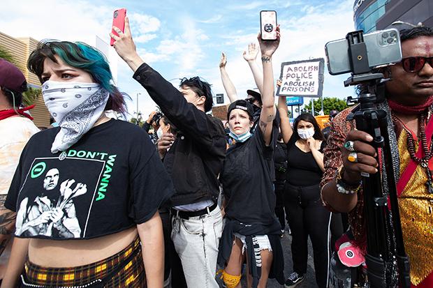 Halsey Protesting