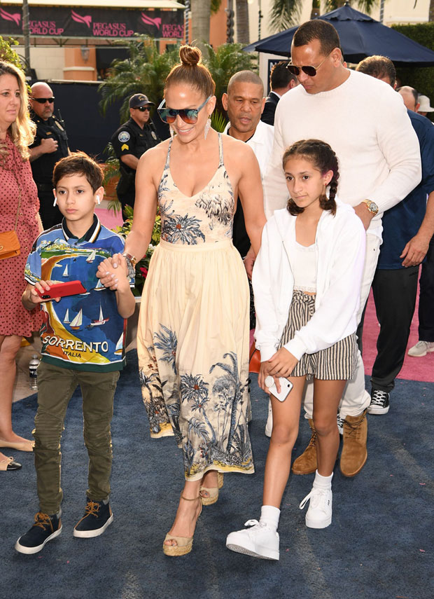Jennifer Lopez, Max Muniz, Emme Muniz, Alex Rodriguez