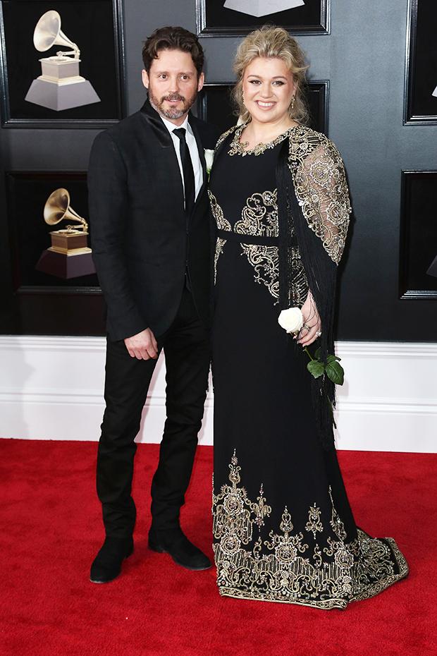 Kelly Clarkson & Brandon Blackstock at the Grammys