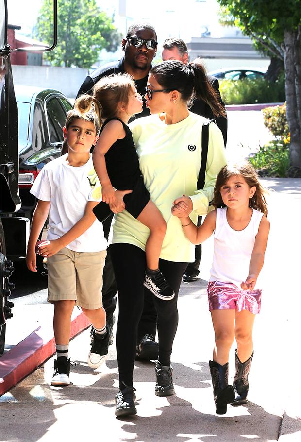 Kourtney Kardashian, Mason Disick, Penelope Disick, Reign Disick