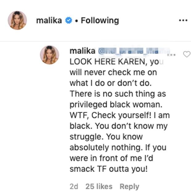 Malika Haqq Instagram