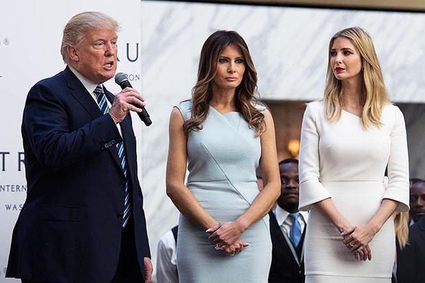 Donald Trump Melania Trump Ivanka Trump