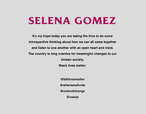 Selena Gomez website