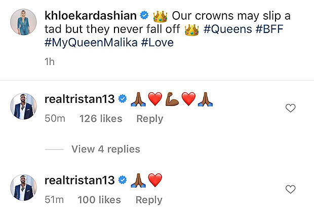 Tristan Thompson Comments On Khloe's Instagram