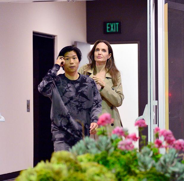 Angelina Jolie & son Pax