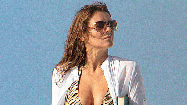 Elizabeth Hurley, 55, Proves She's A Bikini Queen In White Two-Piece & More Of Her Best Pics