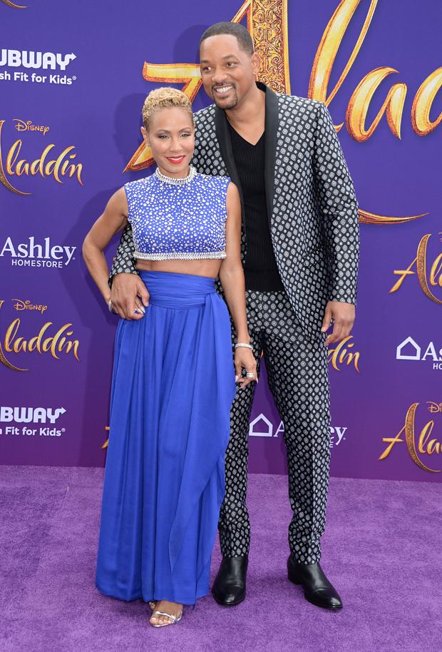 Jada Pinkett-Smith & Will Smith at 'Aladdin' premiere