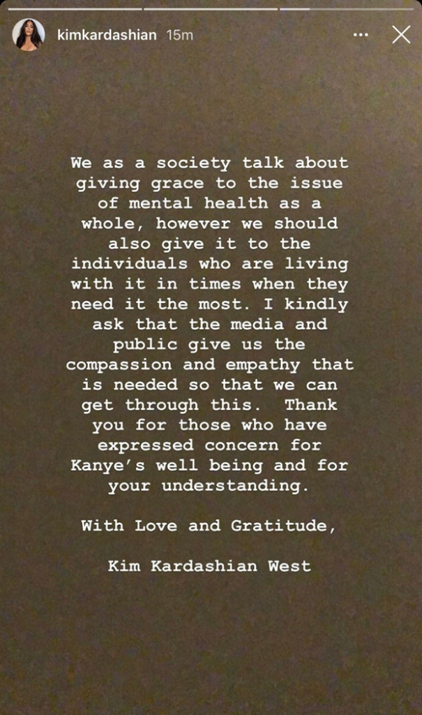 Kim Kardashian Statement