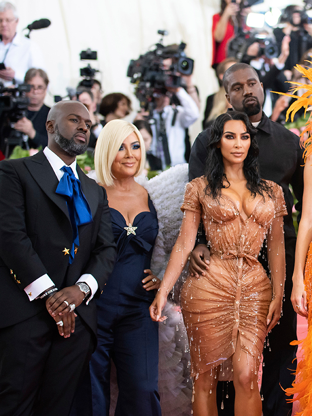 Corey Gamble Kris Jenner Kim Kardashian Kanye West