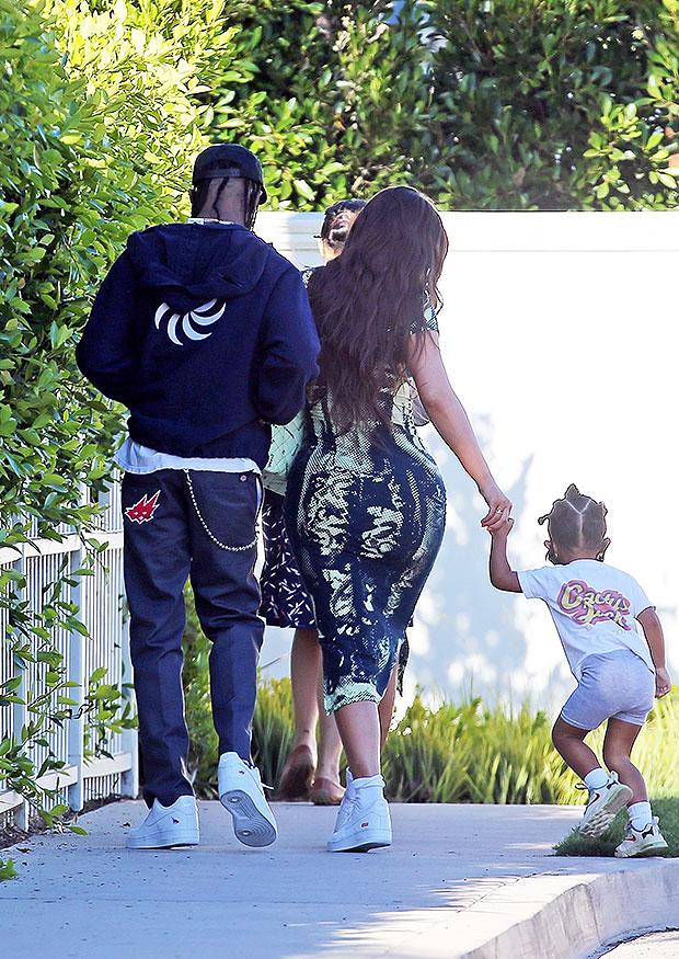 Kylie Jenner, Travis Scott & Stormi Webster