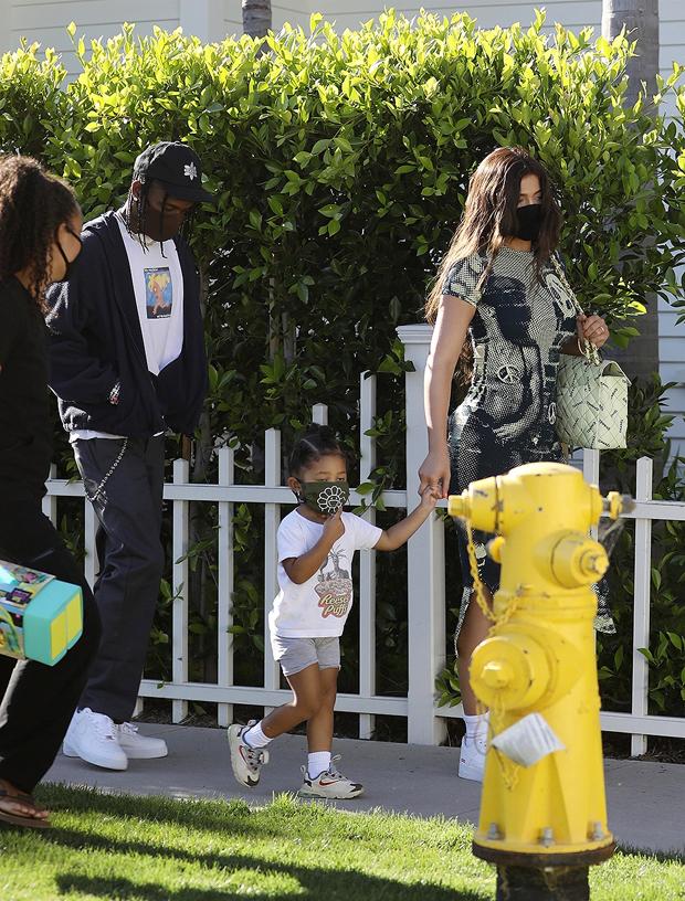 Kylie Jenner, Travis Scott, Stormi Webster