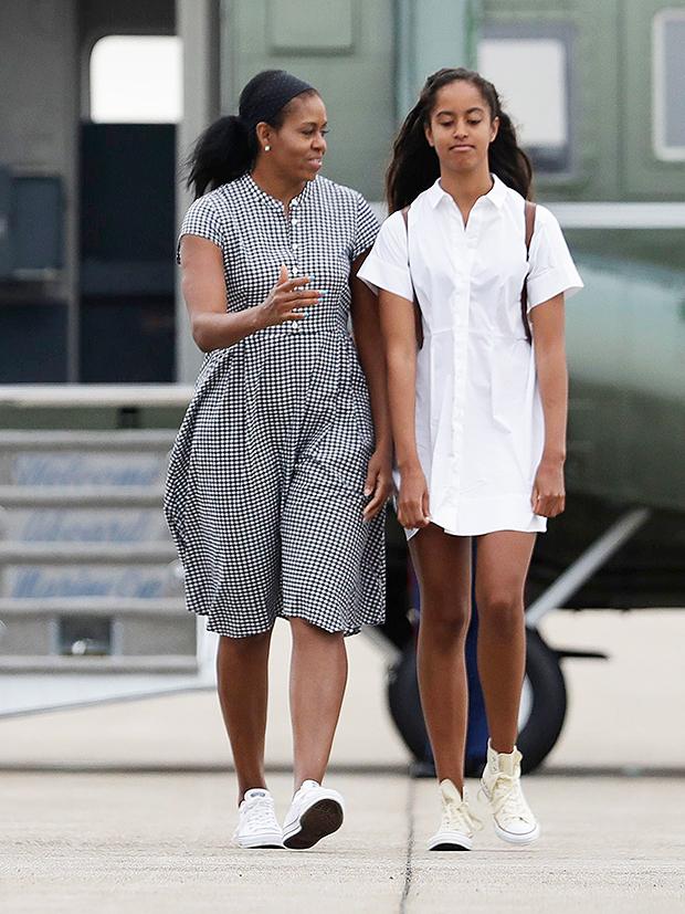 Michelle & Malia Obama.