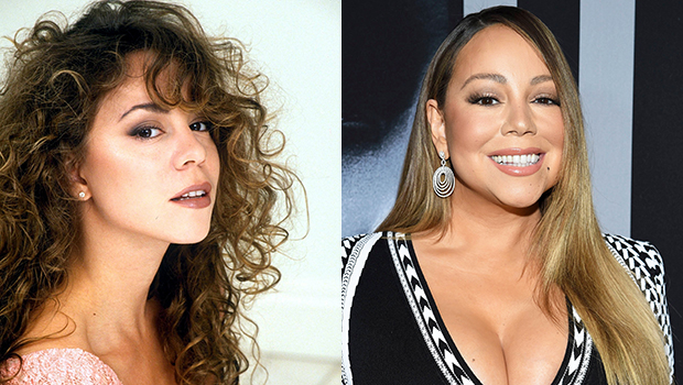 Mariah Carey's hair then & now