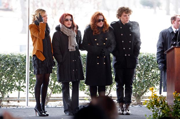 Riley Keough, Lisa Marie Presley, Priscilla Presley, Benjamin Keough