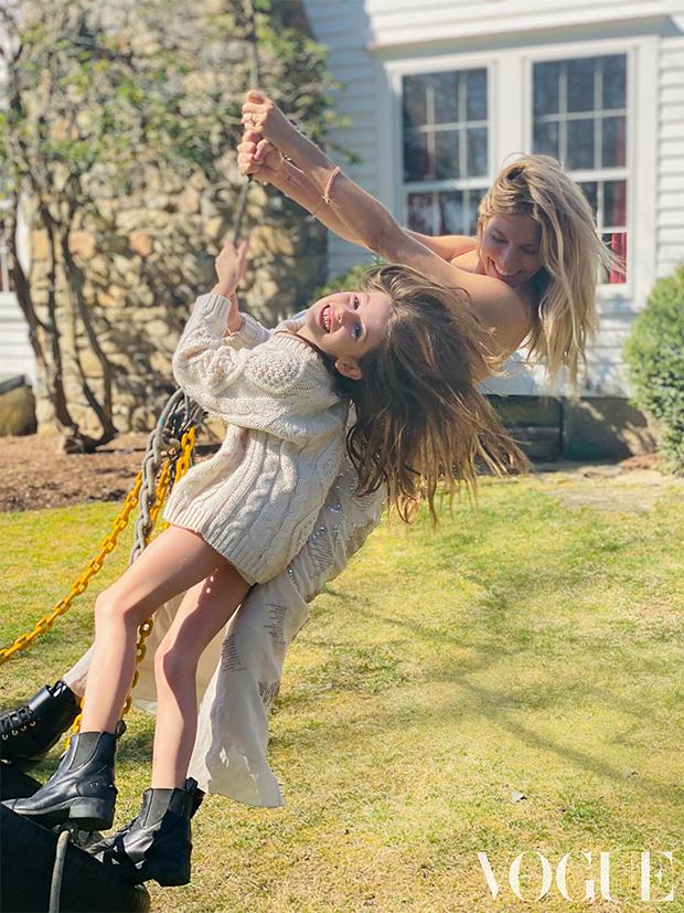 Sienna Miller & daughter Marlowe for Vogue