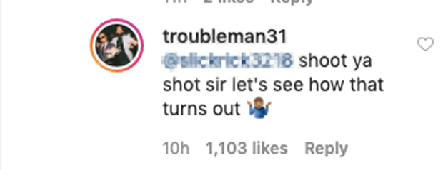 T.I. Instagram Comment
