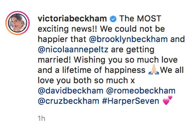 Victoria Beckham, Brooklyn Beckham, Nicola Peltz