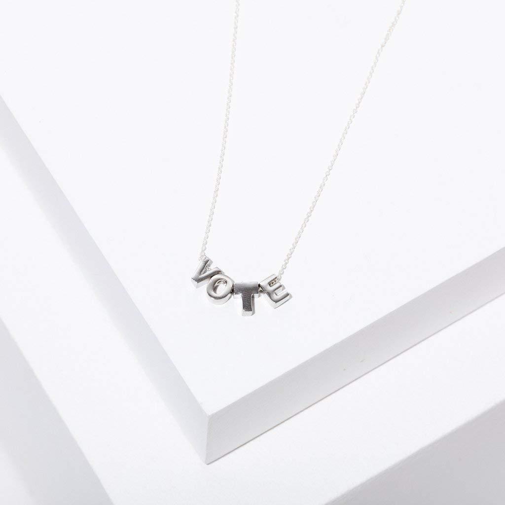 silver vote necklace