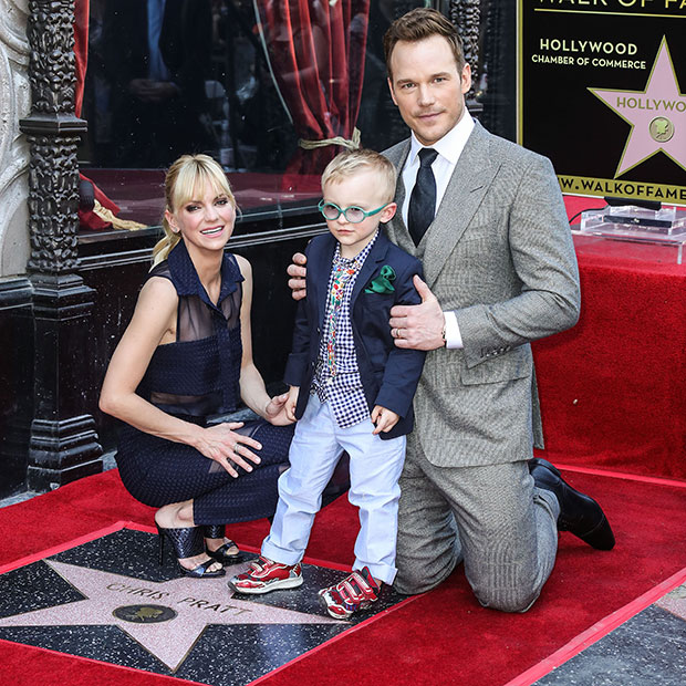 Anna Faris & Chris Pratt with son Jack in Hollywood