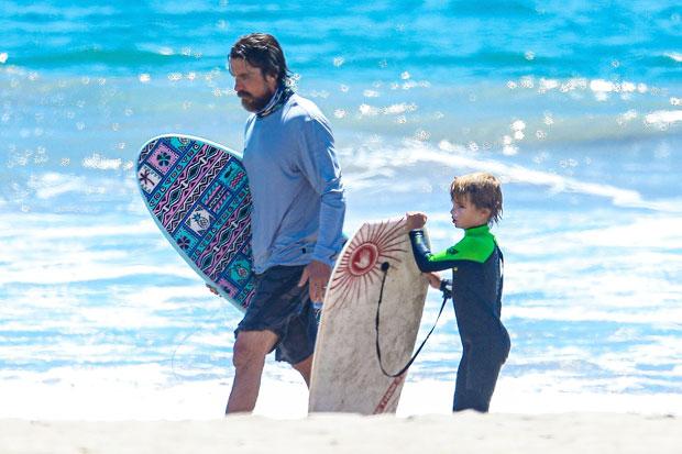 Christian Bale & his son Joseph
