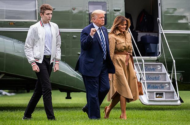 Barron Donald Melania Trump