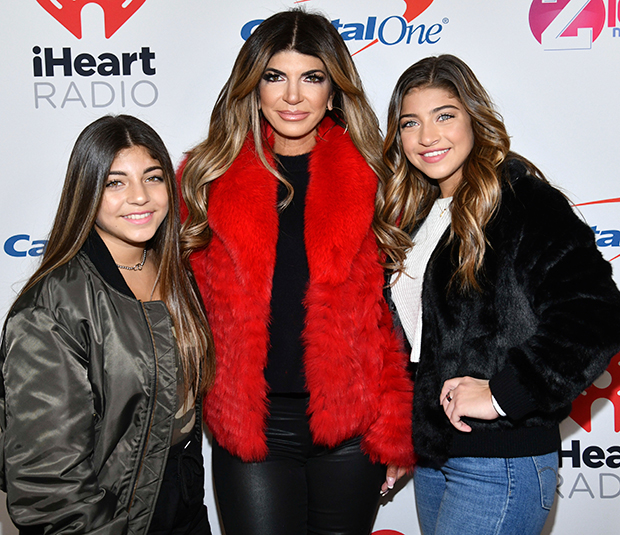 Milania, Teresa & Gia Giudice at Jingle Ball in 2018