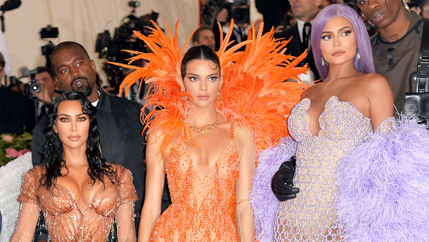 Kim Kardashian with Kendall & Kylie Jenner at the 2019 Met Gala