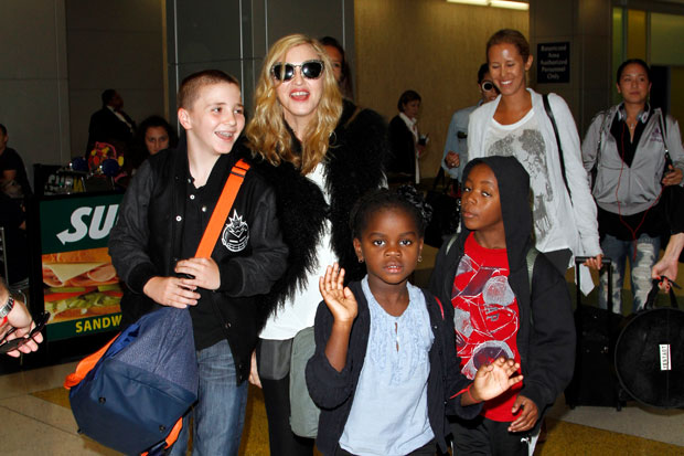 Madonna, Rocco Ritchie, Mercy James, David Banda Mwale Ciccone Ritchie