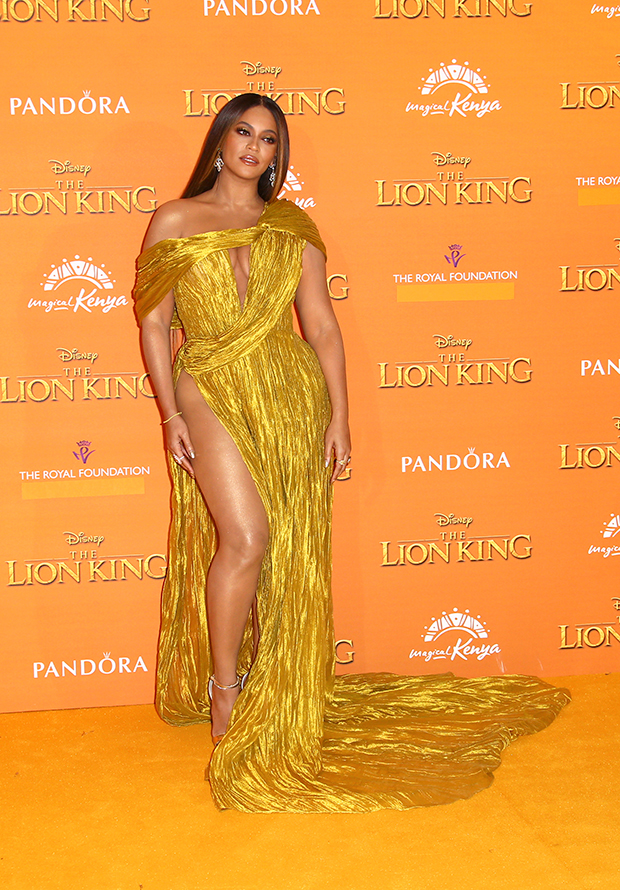 Beyonce on 'The Lion King' red carpet