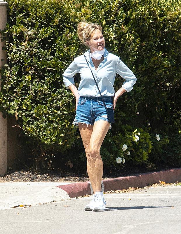 Melanie Griffith in denim in LA