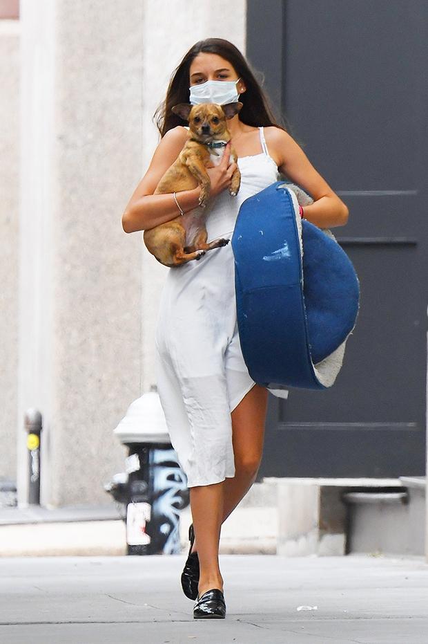 Suri Cruise & her dog in NYC