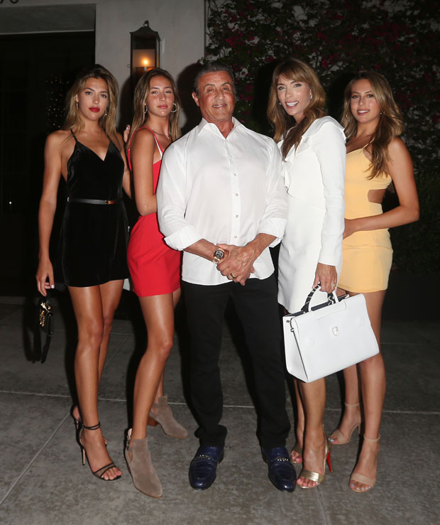 Sylvester Stallone and daughters