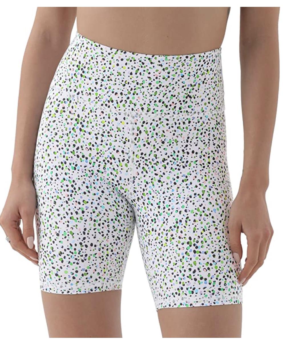 spotted biker shorts