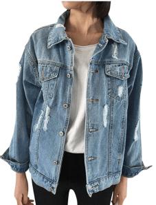 Distressed oversized jacket