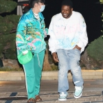 Singer Usher and girlfriend Jennifer Goicoechea are all smiles as they grab dinner at Nobu Malibu in Malibu. 27 Mar 2021 Pictured: Usher And Jennifer Goicoechea. Photo credit: Photographer Group/MEGA TheMegaAgency.com +1 888 505 6342 (Mega Agency TagID: MEGA742742_001.jpg) [Photo via Mega Agency]