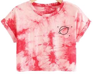 SweatyRocks Printed Crop T-Shirt