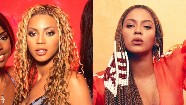 Beyonce then & now