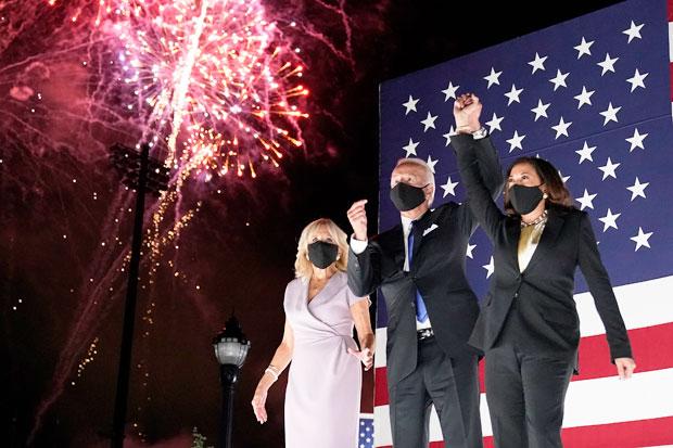 Joe Biden, Jill Biden and Kamala Harris
