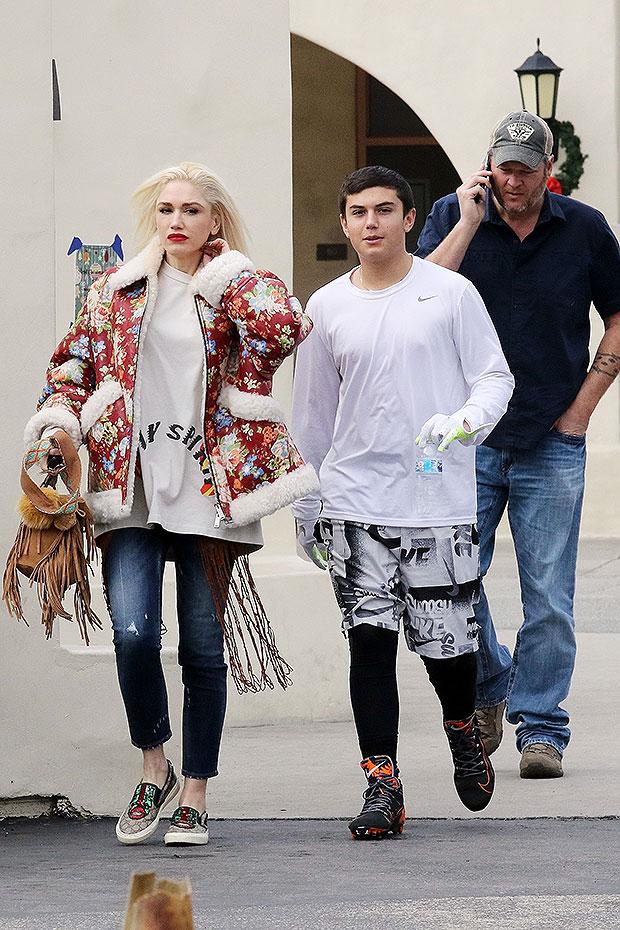 Gwen Stefani, Kingston Rossdale, Blake Shelton