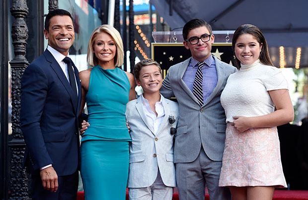 Kelly Ripa & her family