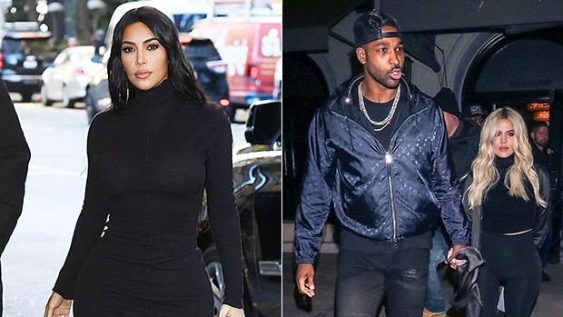 Kim Kardashian & Tristan Thompson With Khloe Kardashian
