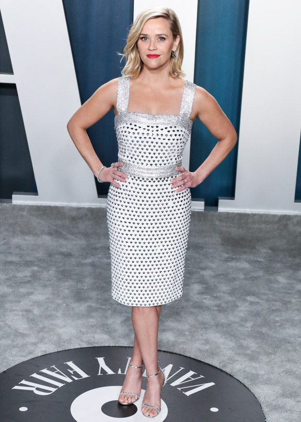 BEVERLY HILLS, LOS ANGELES, CALIFORNIA, USA - FEBRUARY 09: 2020 Vanity Fair Oscar Party held at the Wallis Annenberg Center for the Performing Arts on February 9, 2020 in Beverly Hills, Los Angeles, California, United States. 09 Feb 2020 Pictured: Reese Witherspoon. Photo credit: Xavier Collin/Image Press Agency/MEGA TheMegaAgency.com +1 888 505 6342 (Mega Agency TagID: MEGA606890_001.jpg) [Photo via Mega Agency]