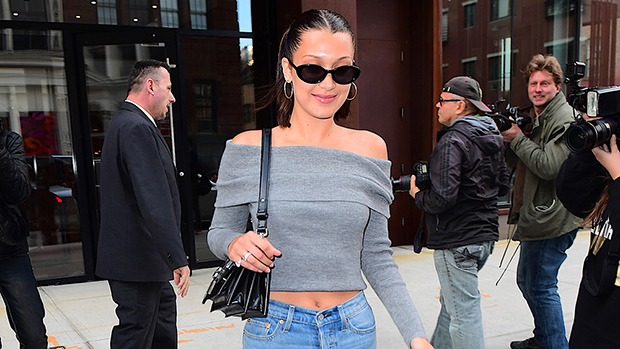 24 Photos Of Stars Rocking Cropped Sweatshirts & Sweaters: Bella Hadid, Kylie Jenner & More