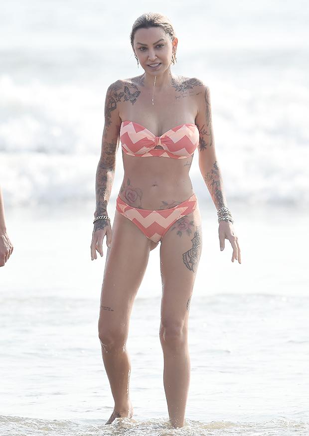 Tina Louise at the beach