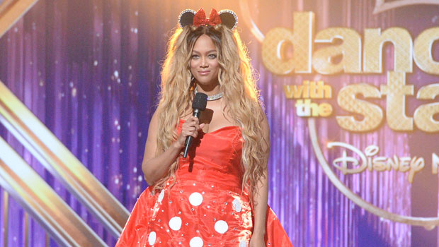 Tyra Banks Looks So Cute In Minnie Mouse Dress On Dwts See Photo Hollywood Life